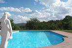 Villa Rosaspina Pool with view