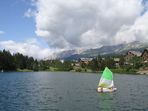 Overview of lake and crans